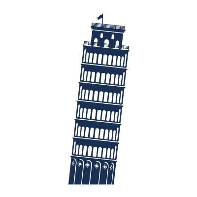 A4 Tower of Pisa